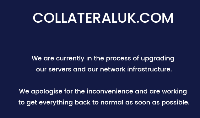 Collateral maintenace message