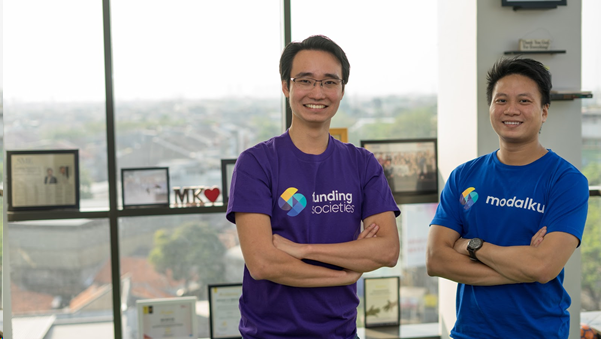 Funding societies founders Kelvin Teo and Reynold Wijaya